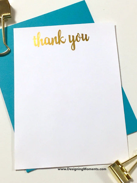 Foil Thank You Cards