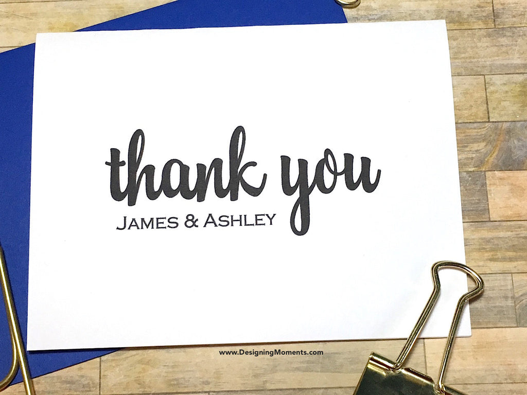 Classic His and Hers Personalized Thank You Cards