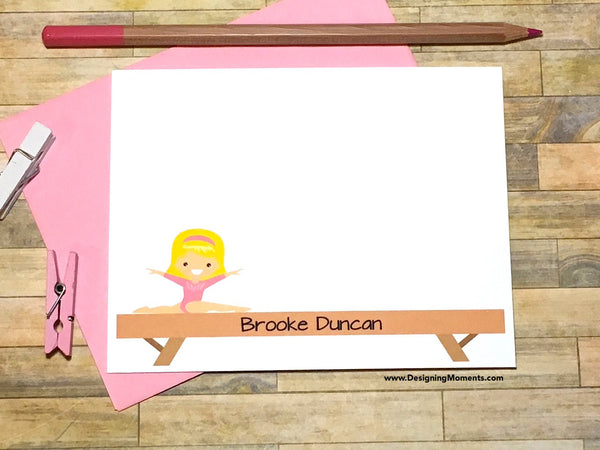 Little Gymnast Personalized Cards