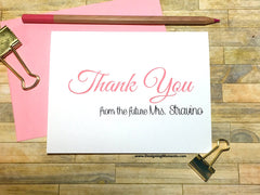 Thank You From the Future Mrs. Personalized Thank You Cards