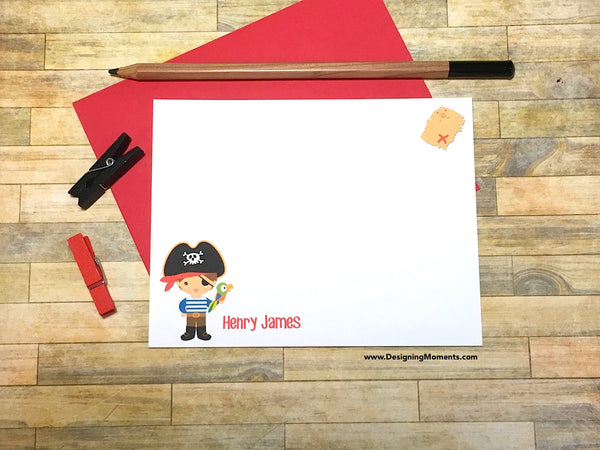 Pirate Personalized Note Cards