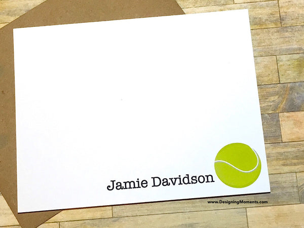 Tennis Ball Personalized Note Cards
