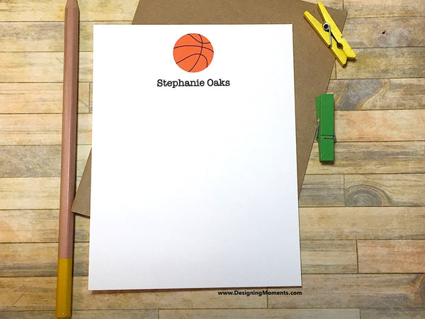 Basketball Personalized Stationery