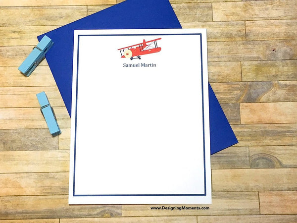 Airplane Personalized Flat Cards