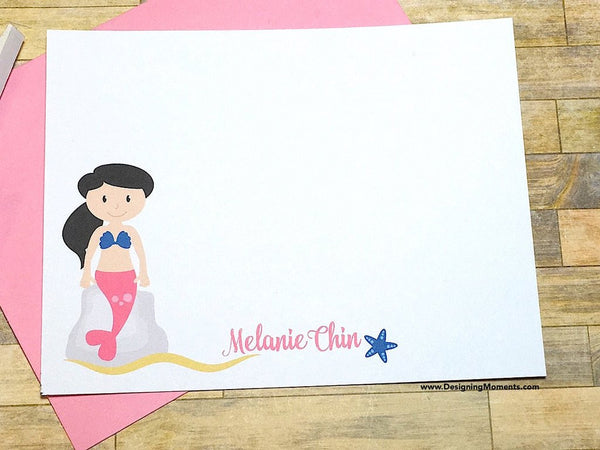 Mermaid Personalized Note Cards