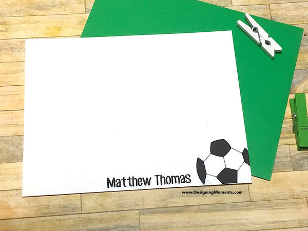 Personalized Soccer Note Cards