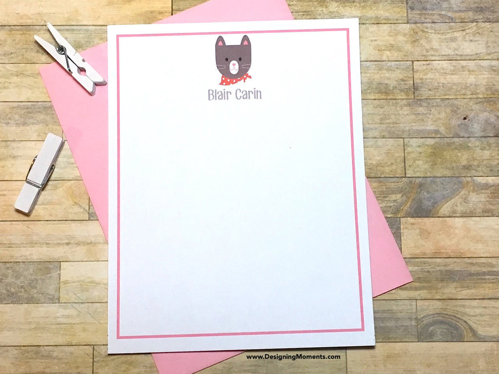 Handkerchief Cat Personalized Note Cards