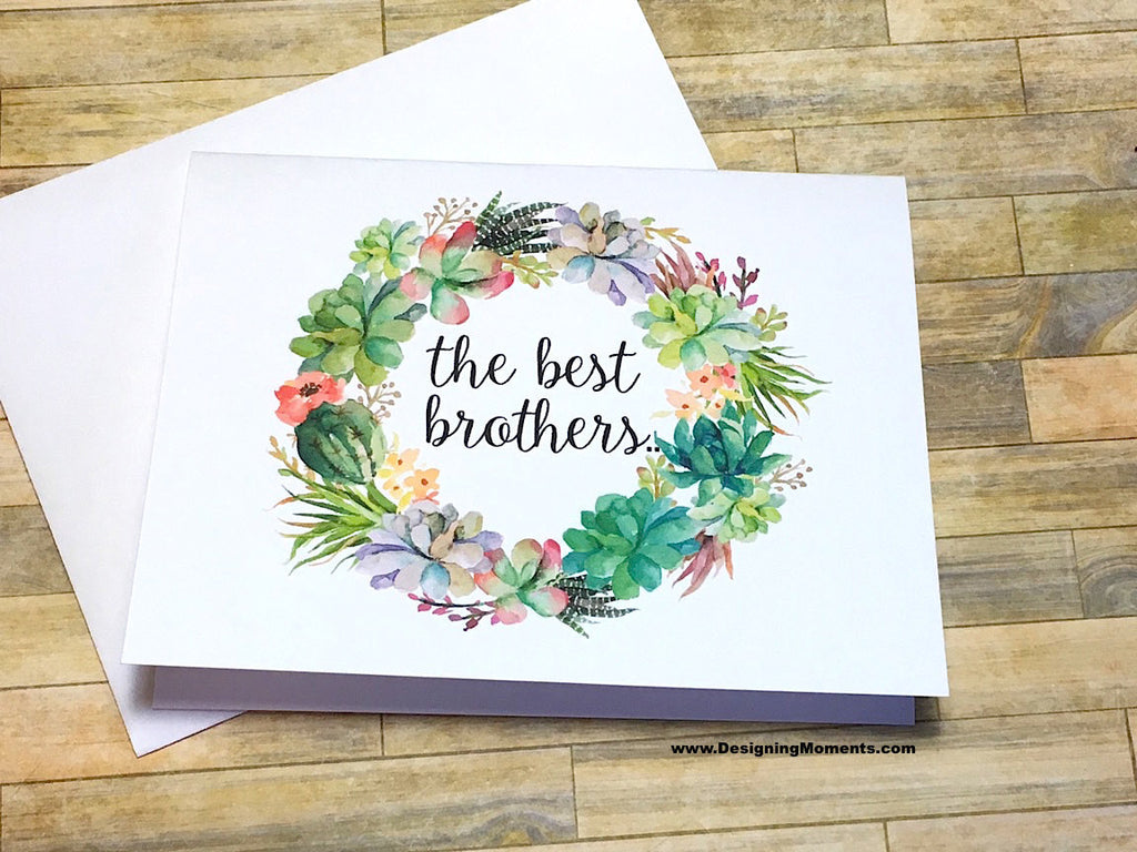 Succulent The Best Brothers Get Promoted to Uncle Card
