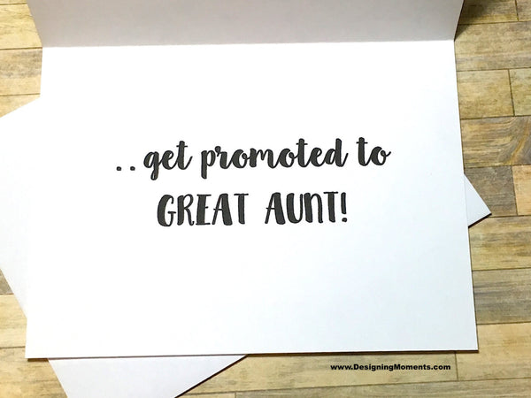 The Best Aunts Get Promoted to Great Aunt