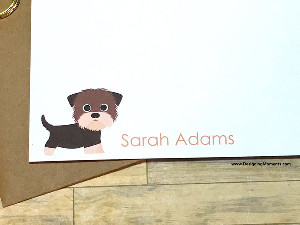 Yorkie Personalized Note Cards