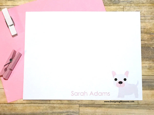 French Bulldog Personalized Stationery