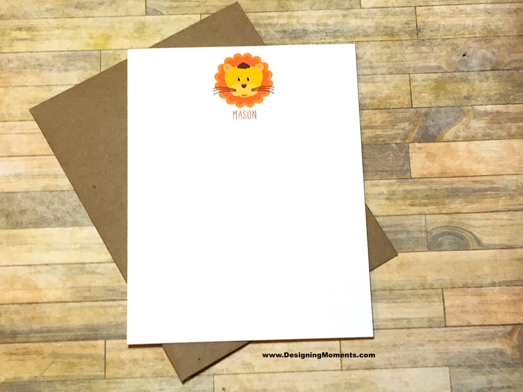 Lion Personalized Note Cards