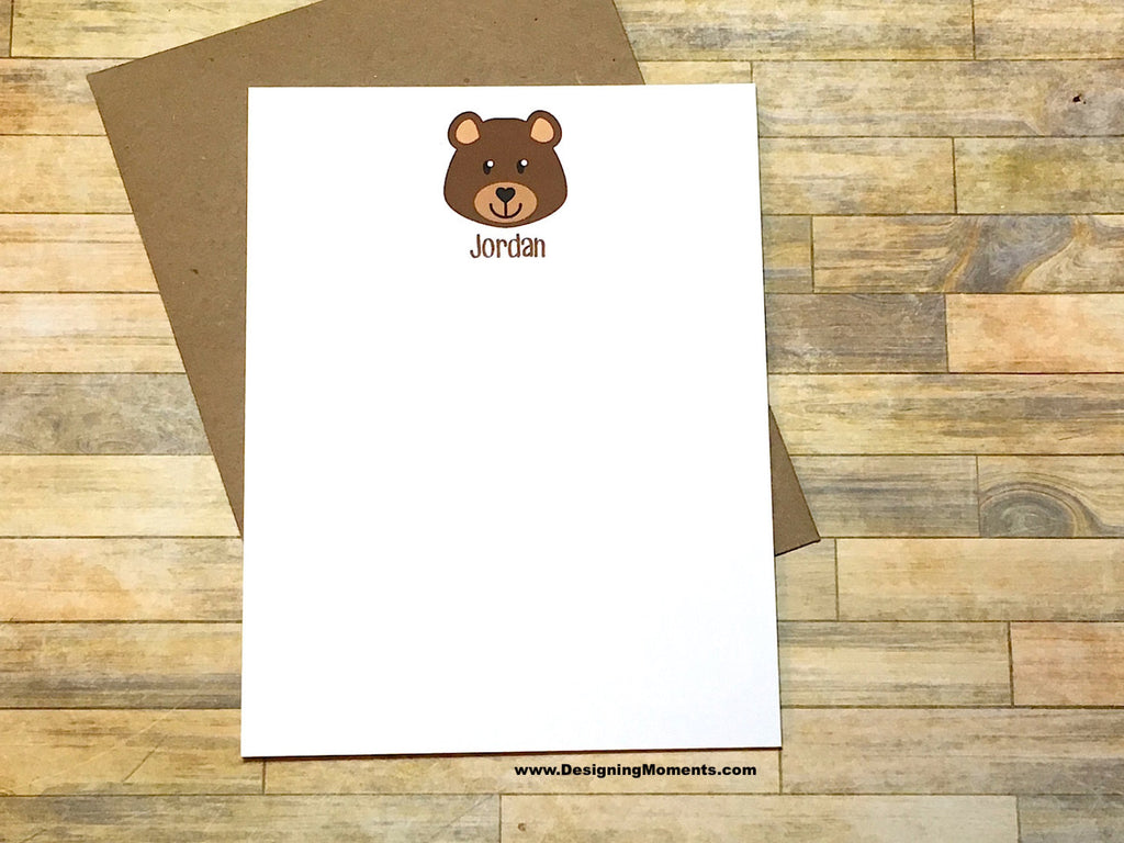 Bear Personalized Note Cards