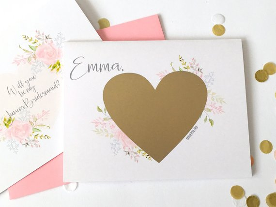 Personalized Junior Bridesmaid Scratch Off