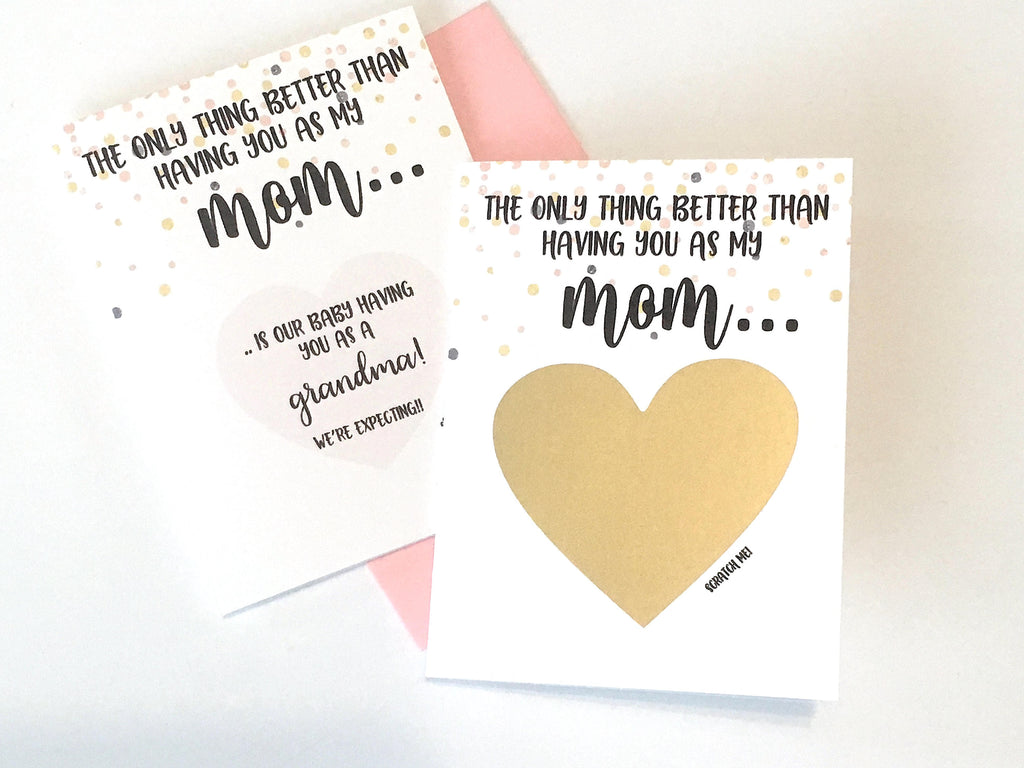 Mom Pregnancy Reveal Scratch Off Card