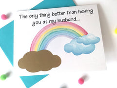 Rainbow Baby Pregnancy Announcement to Husband
