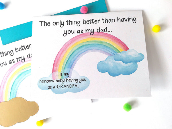 Rainbow Baby Pregnancy Announcement to Father