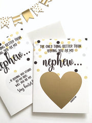 Nephew Ring Bearer Proposal Scratch Off Card