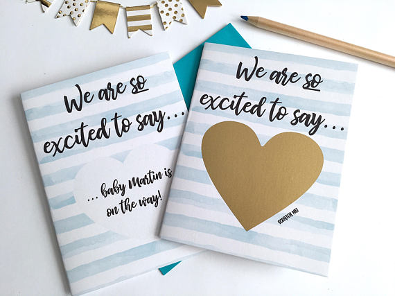 We Are So Excited To Say Pregnancy Scratch Off Card