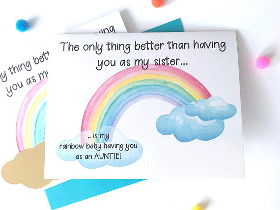 Rainbow Baby Pregnancy Announcement to Sister