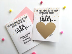 Sister Bridesmaid Scratch Off Card Proposal