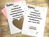 Personalized Bridesmaid Scratch Off Proposal
