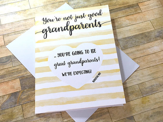 Watercolor Pregnancy Scratch Off Card for Grandparents