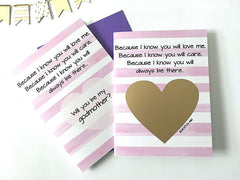 Poem for Godmother Proposal Scratch Off Card