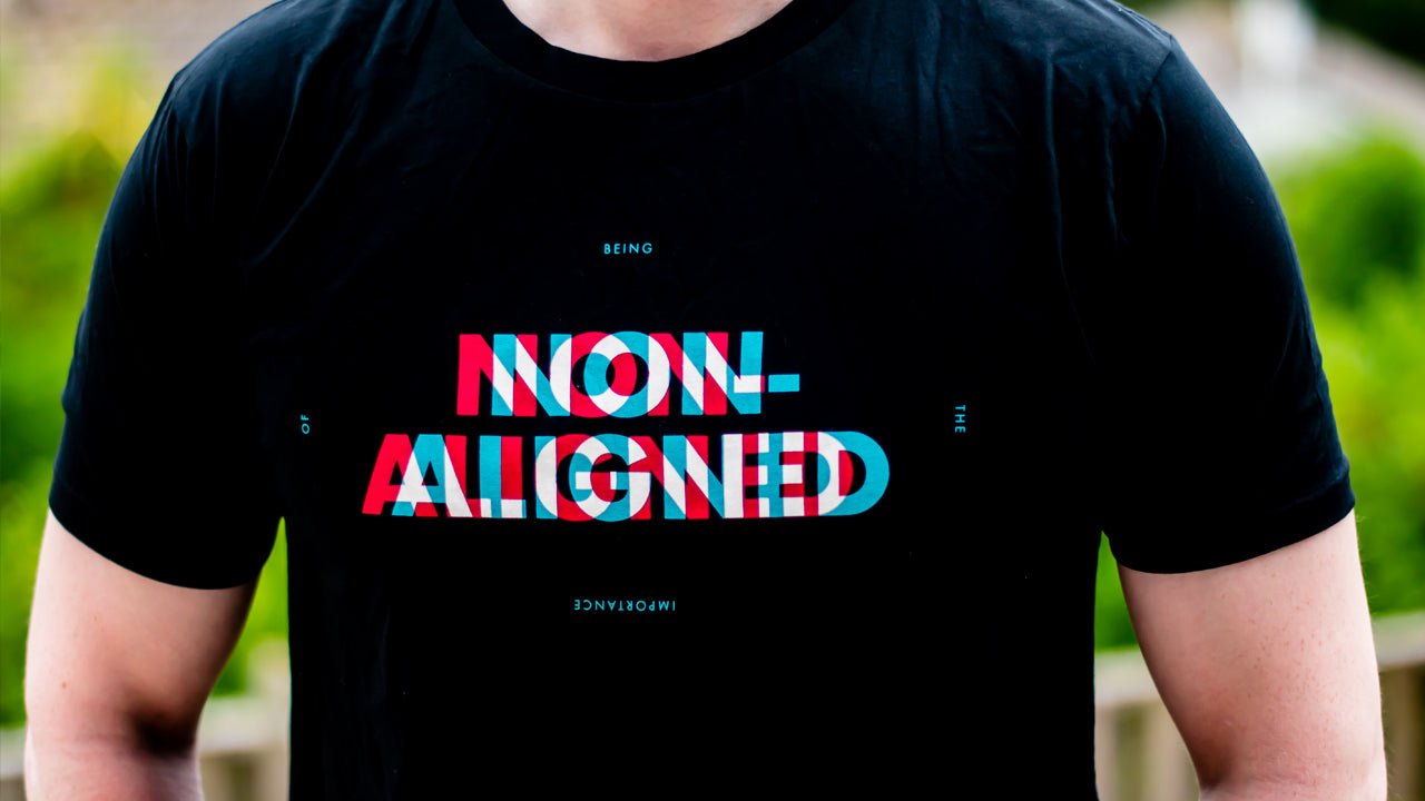 Black Non-Aligned T-Shirt