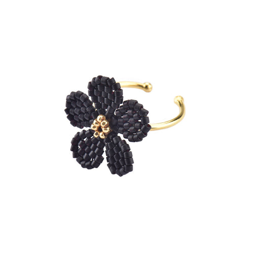 Flower Ring - Black