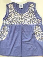 Oaxaca - Tank Top  ( Periwinkle with Ivory)