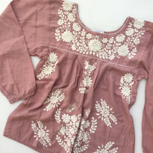 Oaxaca - Long Sleeve ( Dusty Rose with Ivory)