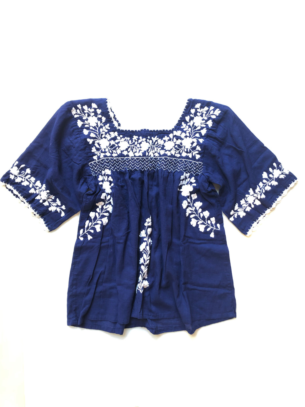 Oaxaca - Bell Sleeve (Blue with White)