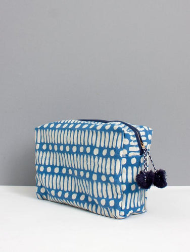 Washbag - Dot Dash Blue