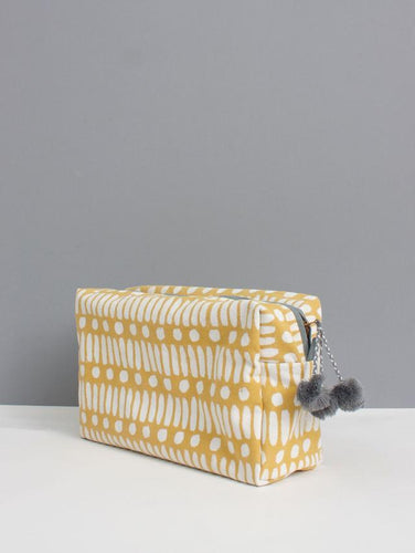 Washbag - Dot Dash Ochre