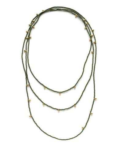 Bluma Project - Riley Necklace Olive
