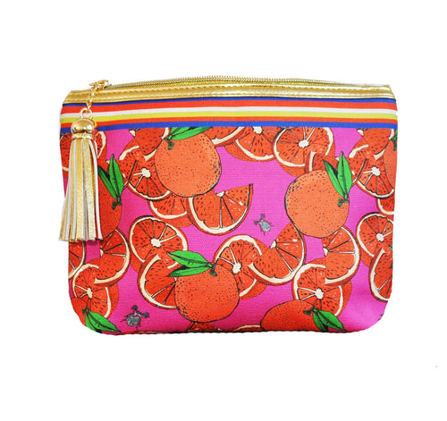 Classic Make Up Bag- Oranges