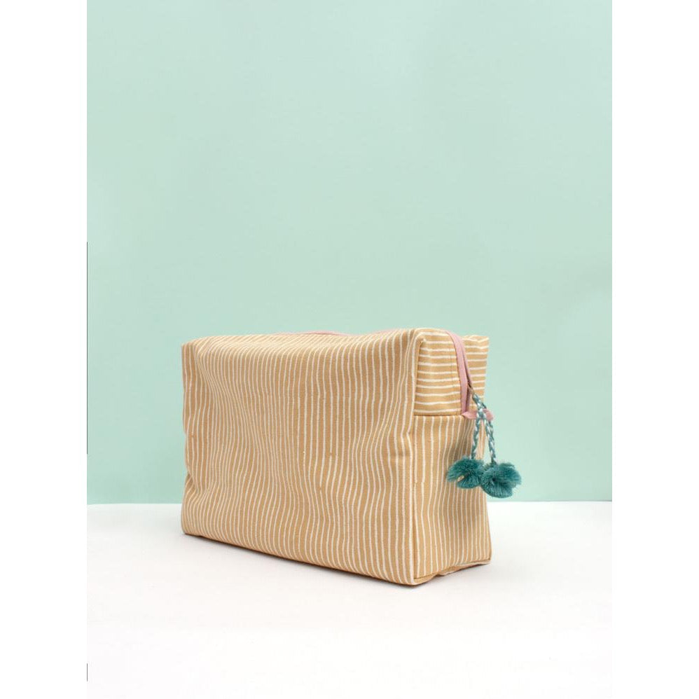 Washbag - Mustard Stripe