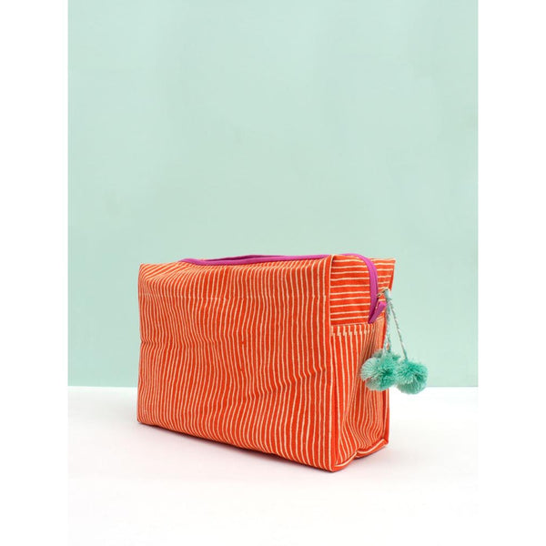 Washbag - Orange Stripe