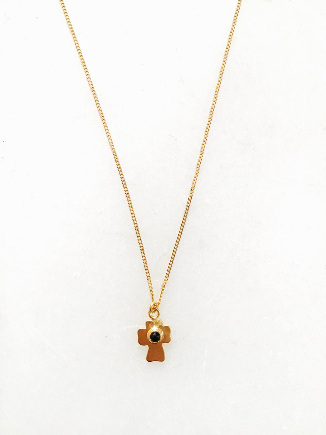 Chan Luu Onyx Cross Necklace