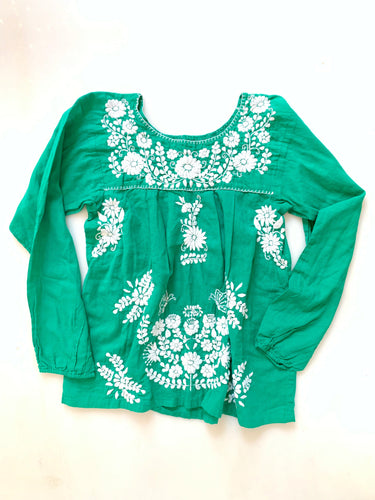 Oaxaca - Long Sleeve (Kelly Green with White)