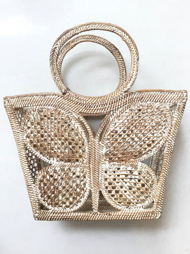 Butterfly Handbag - White