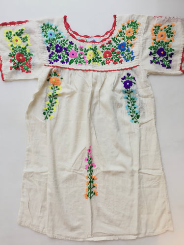 Oaxaca Dress - Split Sleeve (Ivory with Multi)