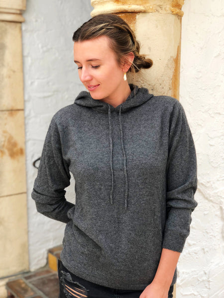 Cashmere Hoodie - Charcoal