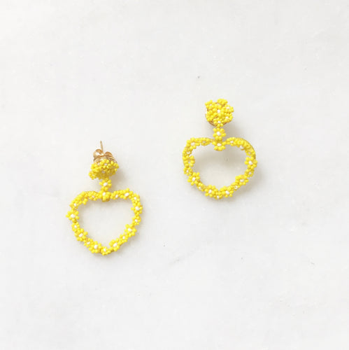 Sublime Heart Earring - Yellow