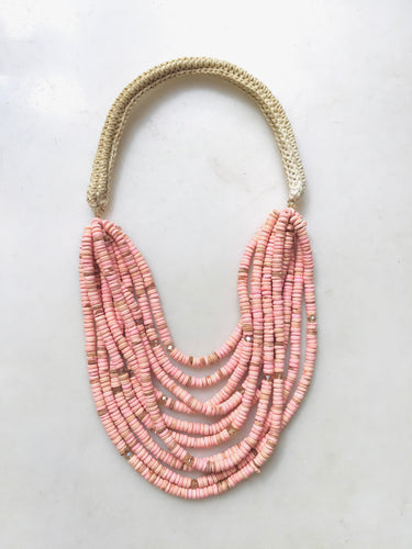 Rainforest Necklace - Salmon