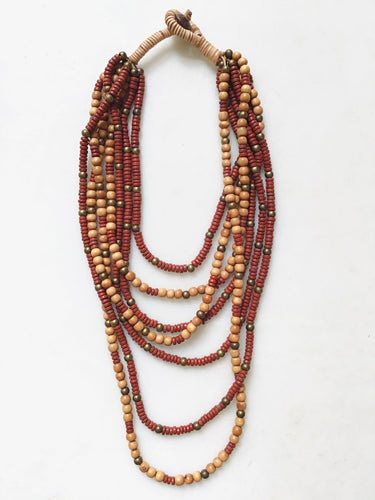 Lucila Necklace - Red Brown