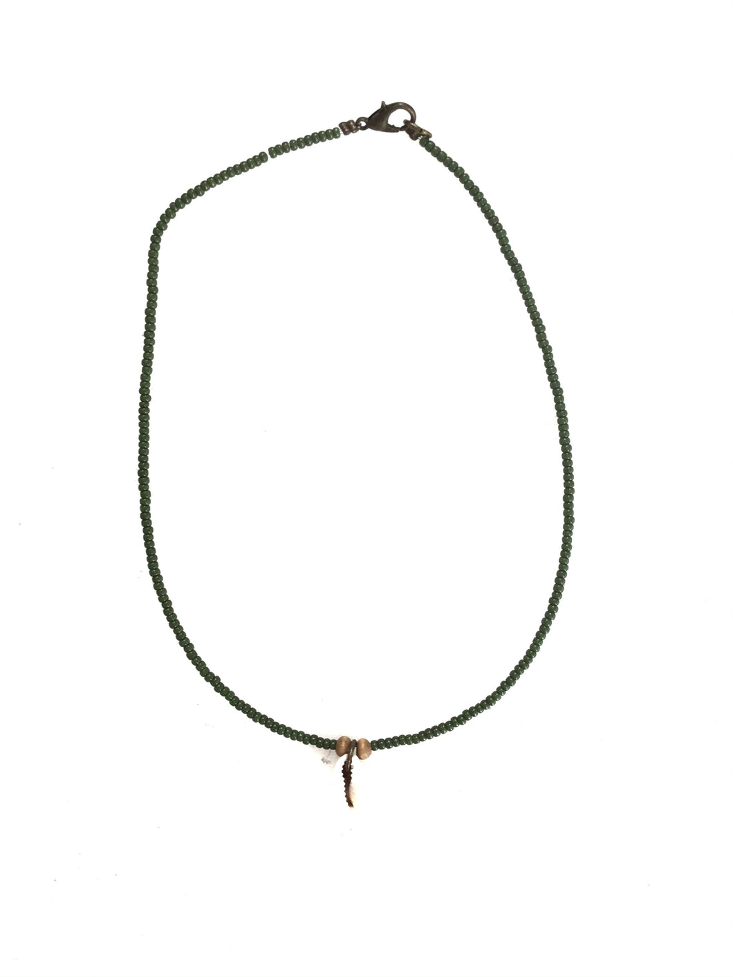 Baby Shell Necklace - Green