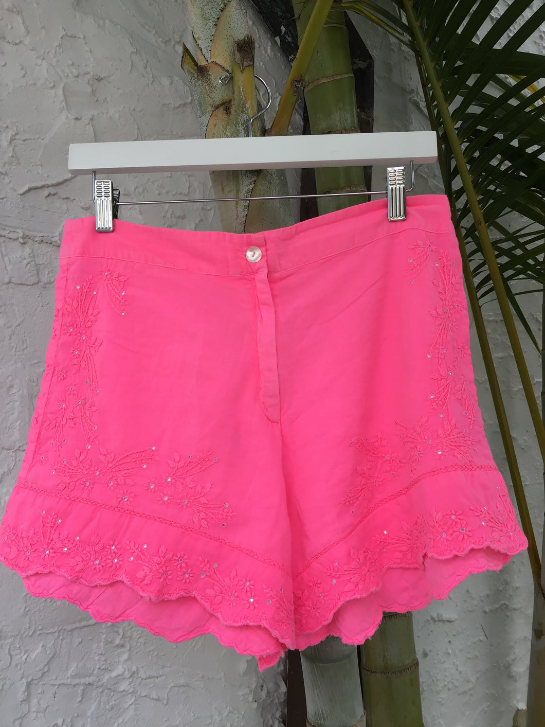 Neon Lotus High Waisted Shorts