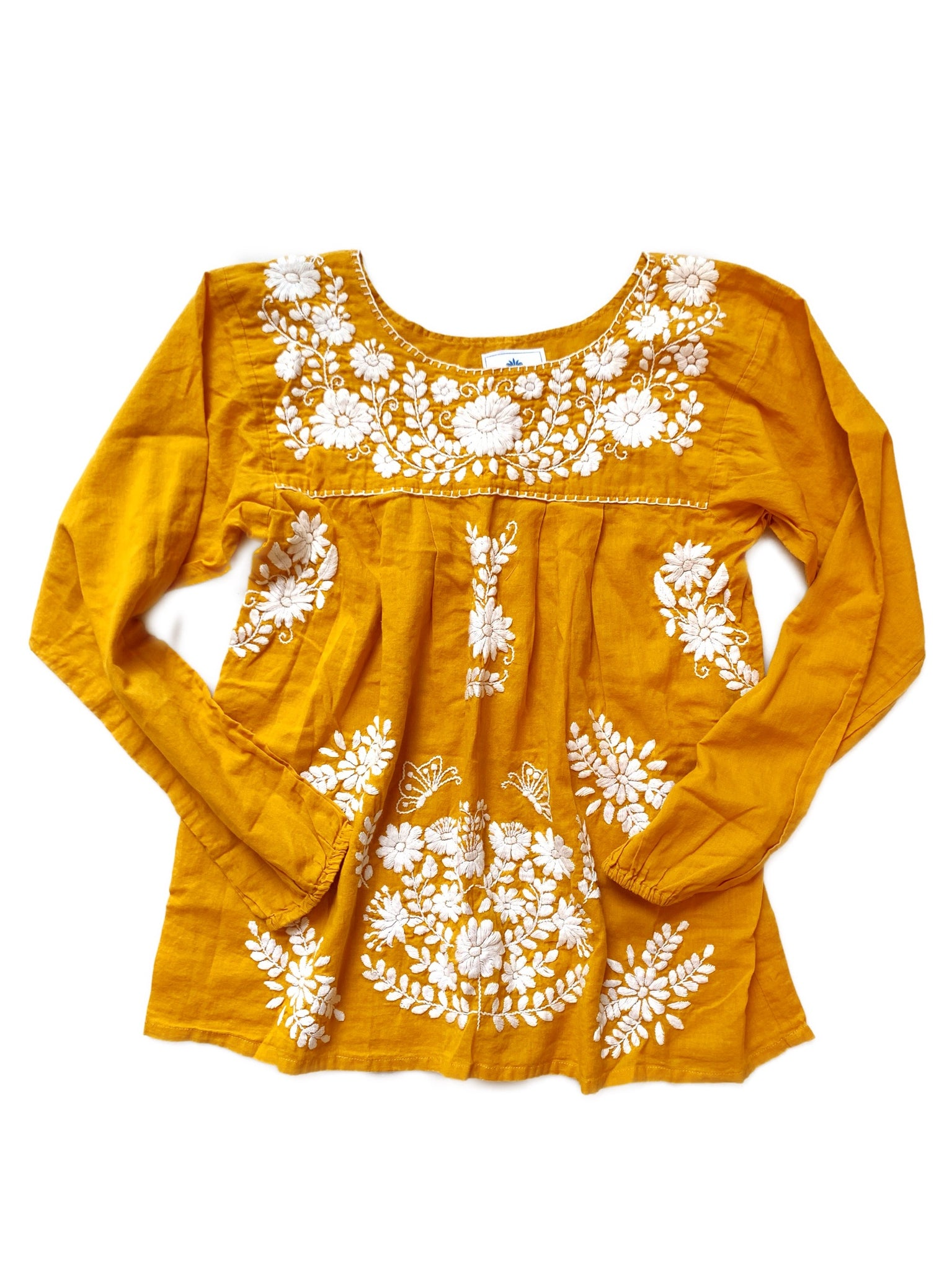 Oaxaca - Long Sleeve (Turmeric with White)